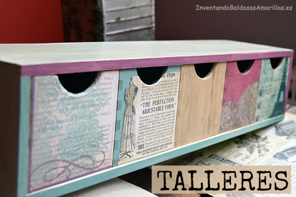 Talleres diy y manualidades en madrid - Papel para decorar muebles ...