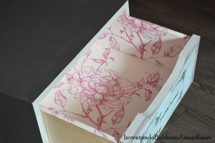 decorar cajones con papel