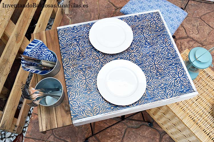 diy decorar mesa patio ikea