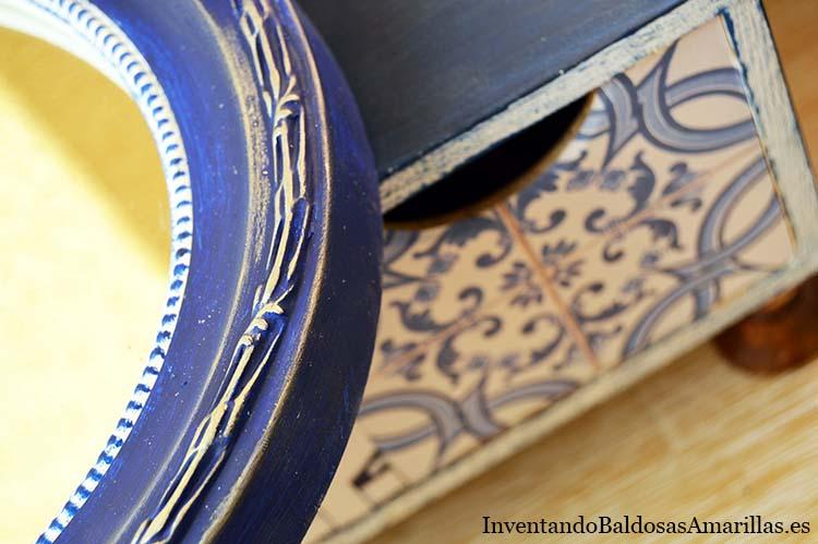 detalle espejo decorado