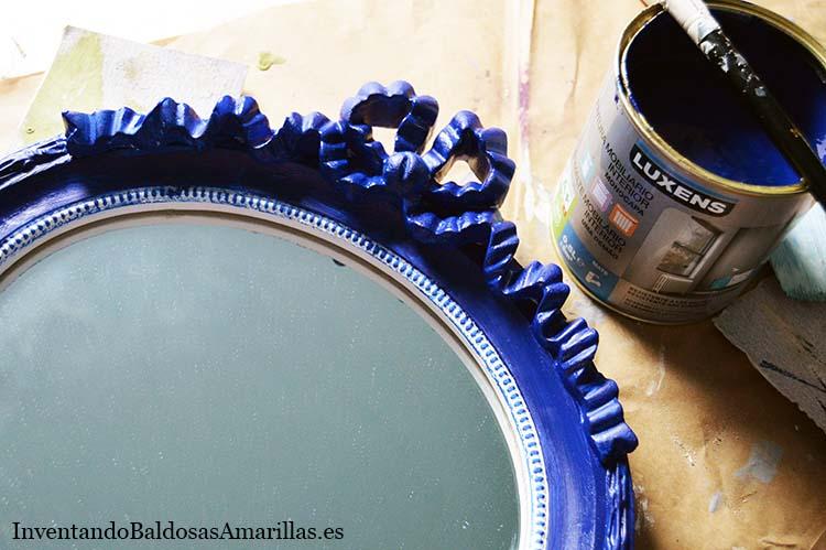 diy espejo azul
