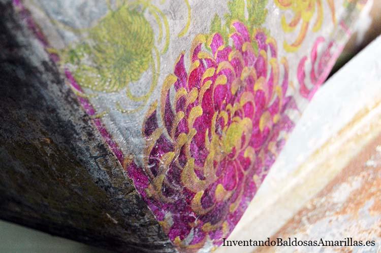 detalle servilleta pegada
