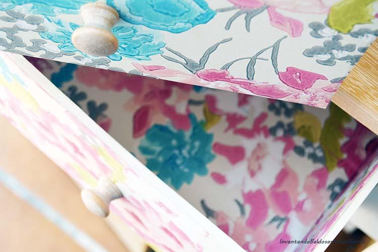 Decorar cajones con papel