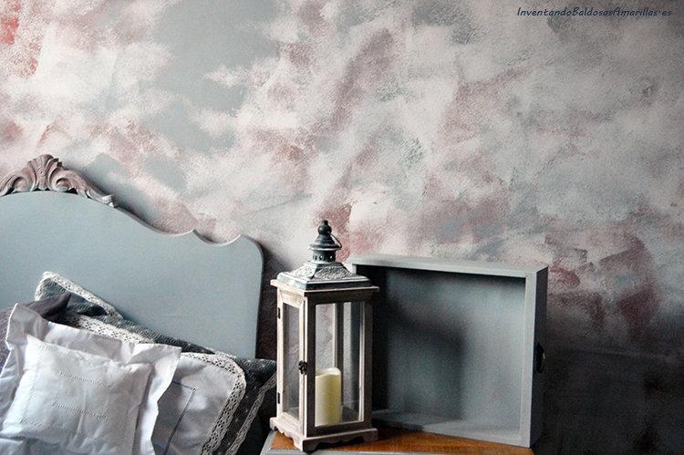 Pintar una pared con efecto desgastado for Pared de habitacion decorada