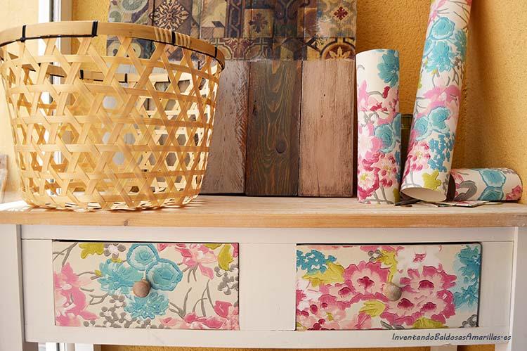 Decorar un mueble con papel pintado - Decorar muebles con papel ...