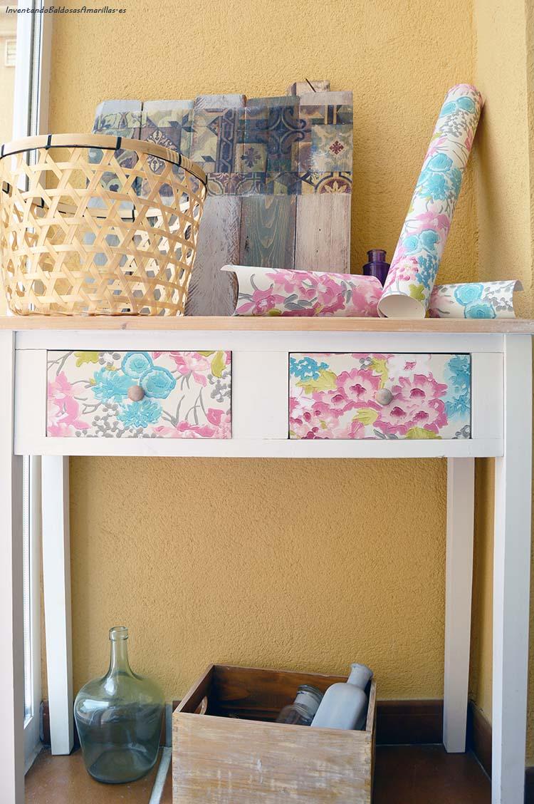 Decorar un mueble con papel pintado handbox - Como decorar un mueble con papel pintado ...