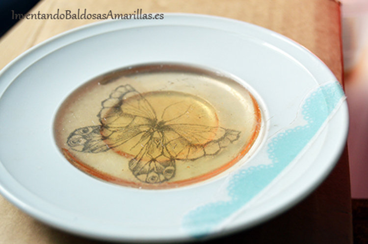 decorar plato resina 1
