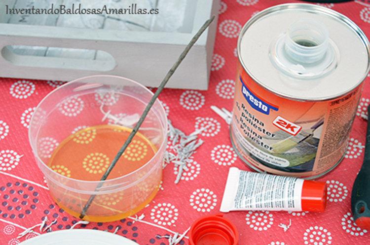 echar resina 1