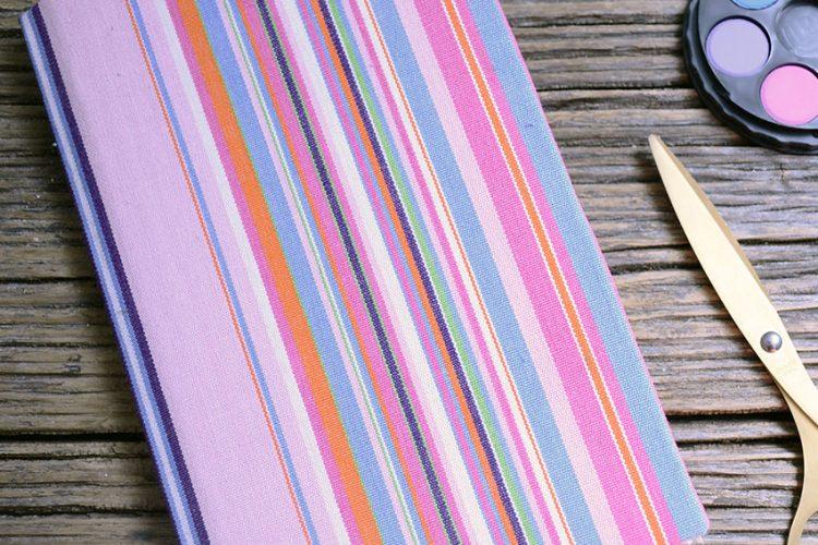 DIY libretas cómo decorar libretas con tela