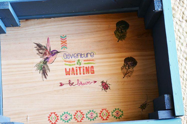 Cómo montar una caja de madera de frutas